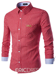 red plain shirt for man
