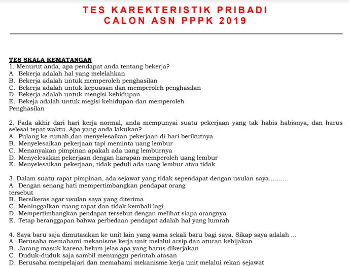 31+ Contoh soal tkp hots cpns 2019 pdf info cpns terbaru