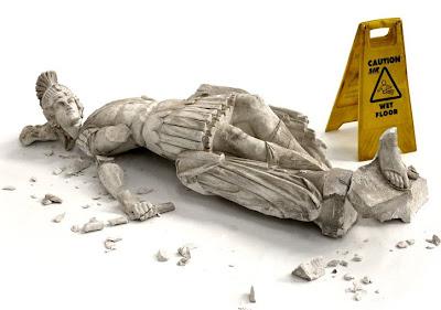 banksy's fallen soldier