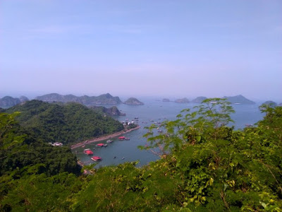 bahia de lan ha desde cannon fort cat ba