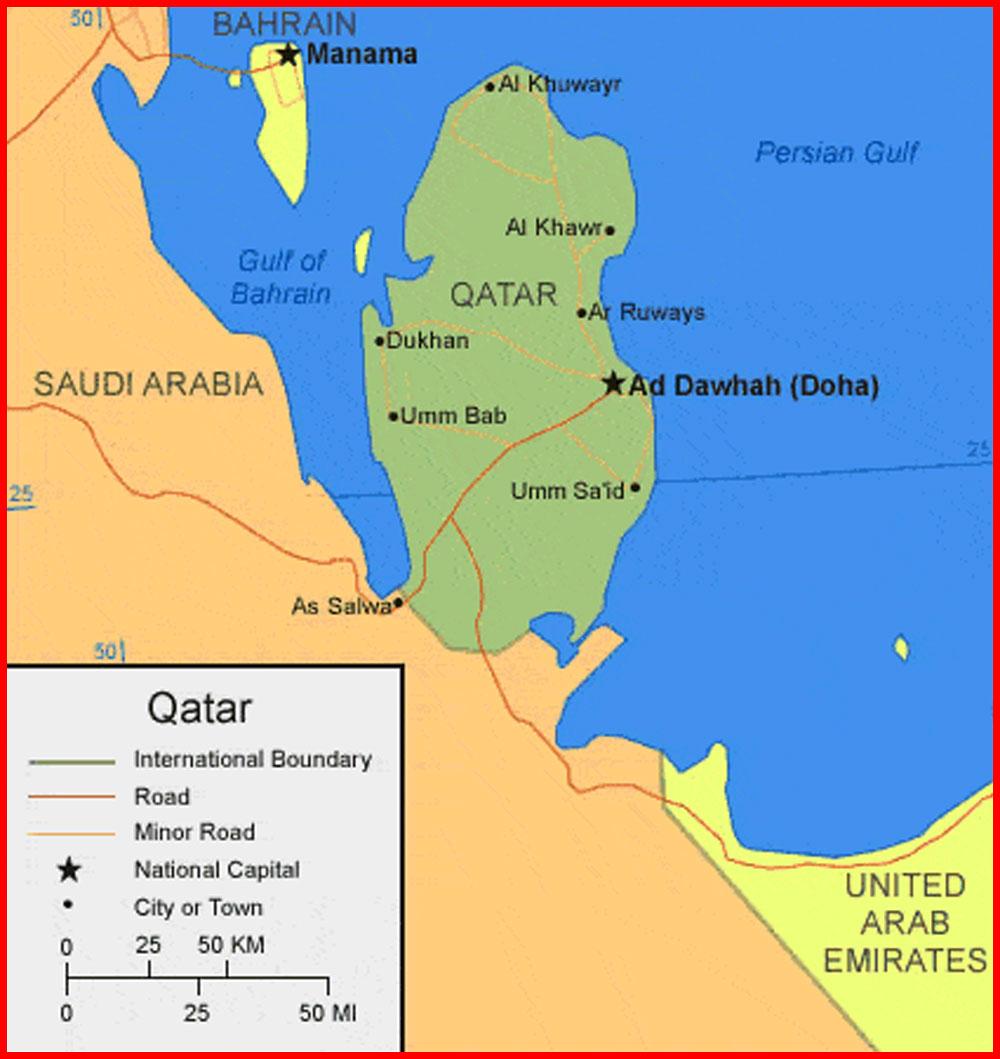 image: Qatar Map HD