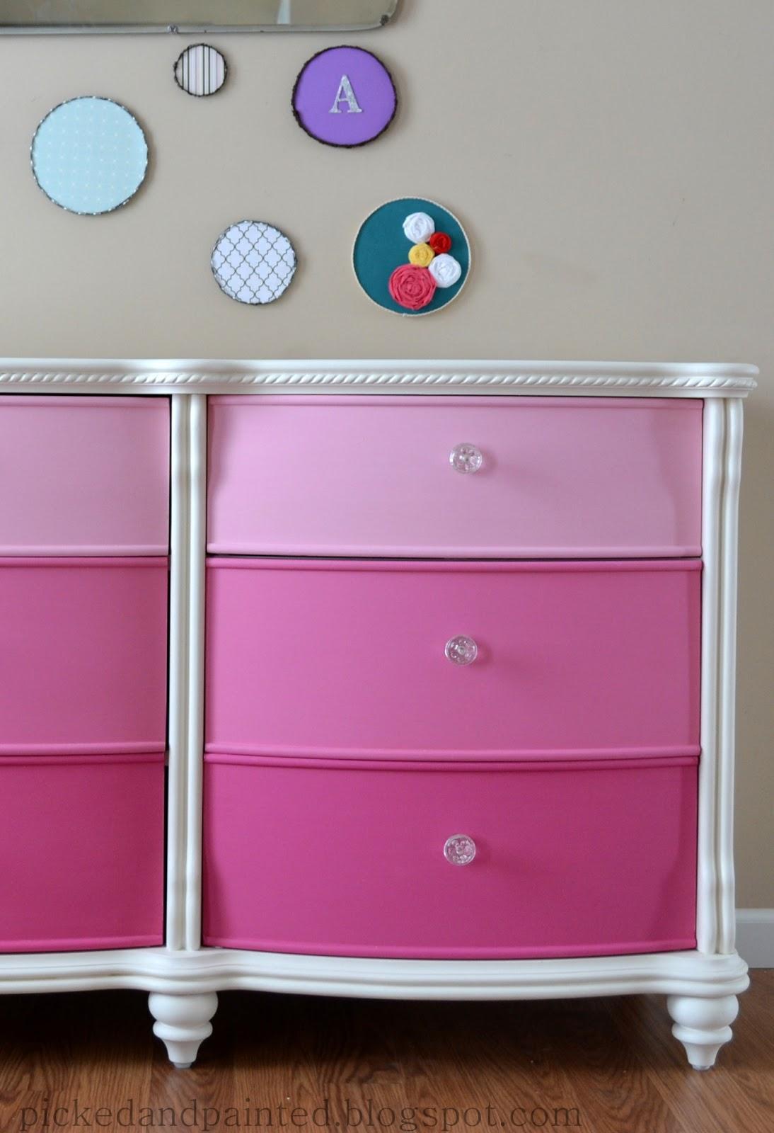 White Dresser Girls Room