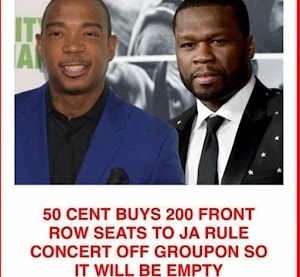 20years Beef Continues: 50 Cent Buys 200 Tickets to Ja Rule's Concert, So What Will Happen To The Empty Seats?