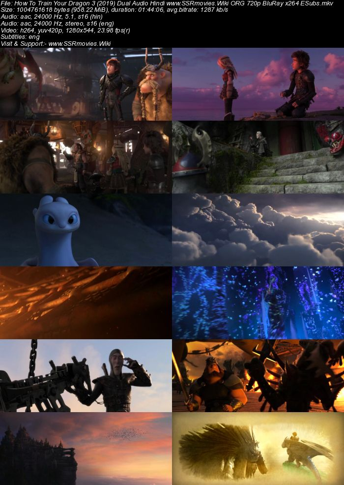 How to train your dragon 3 hindi subtitles download