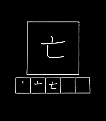 kanji die