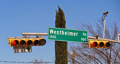 1000-900 Block of Westheimer at Montrose intersection (traffic light, street name signage)