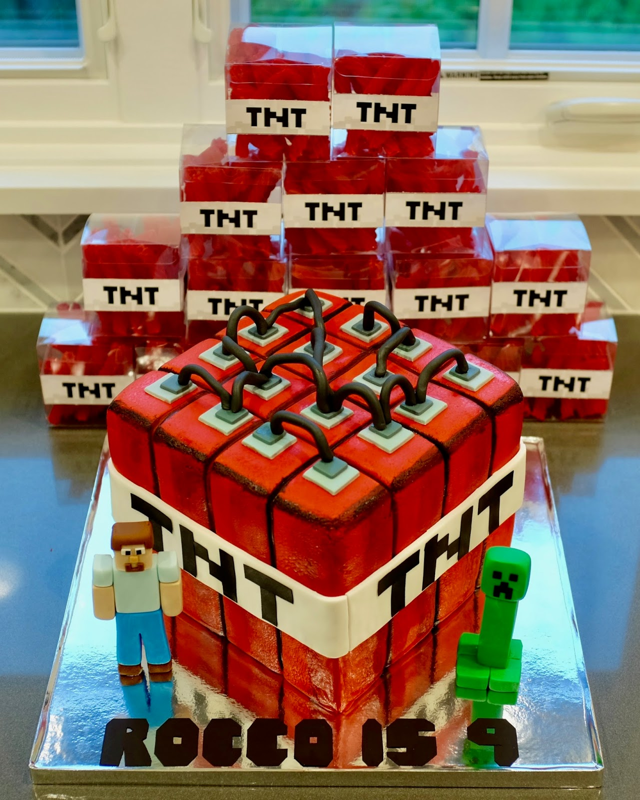 Minecraft Tnt Dynamite Party Simply Homemade Cakes