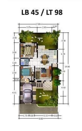 rancangan atau desain rumah yang ukurannya mendekati masih dapat diaplikasikan Contoh Denah Rumah Tipe 45 Desain Minimalis