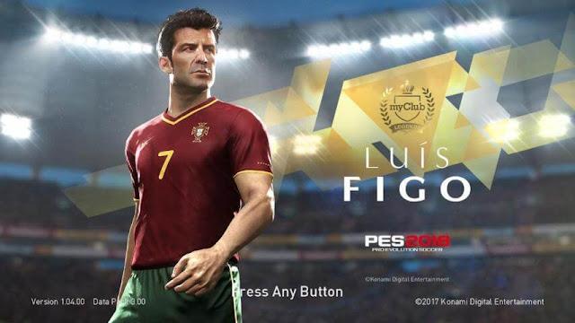 Legends Figo Start Screen PES 2018