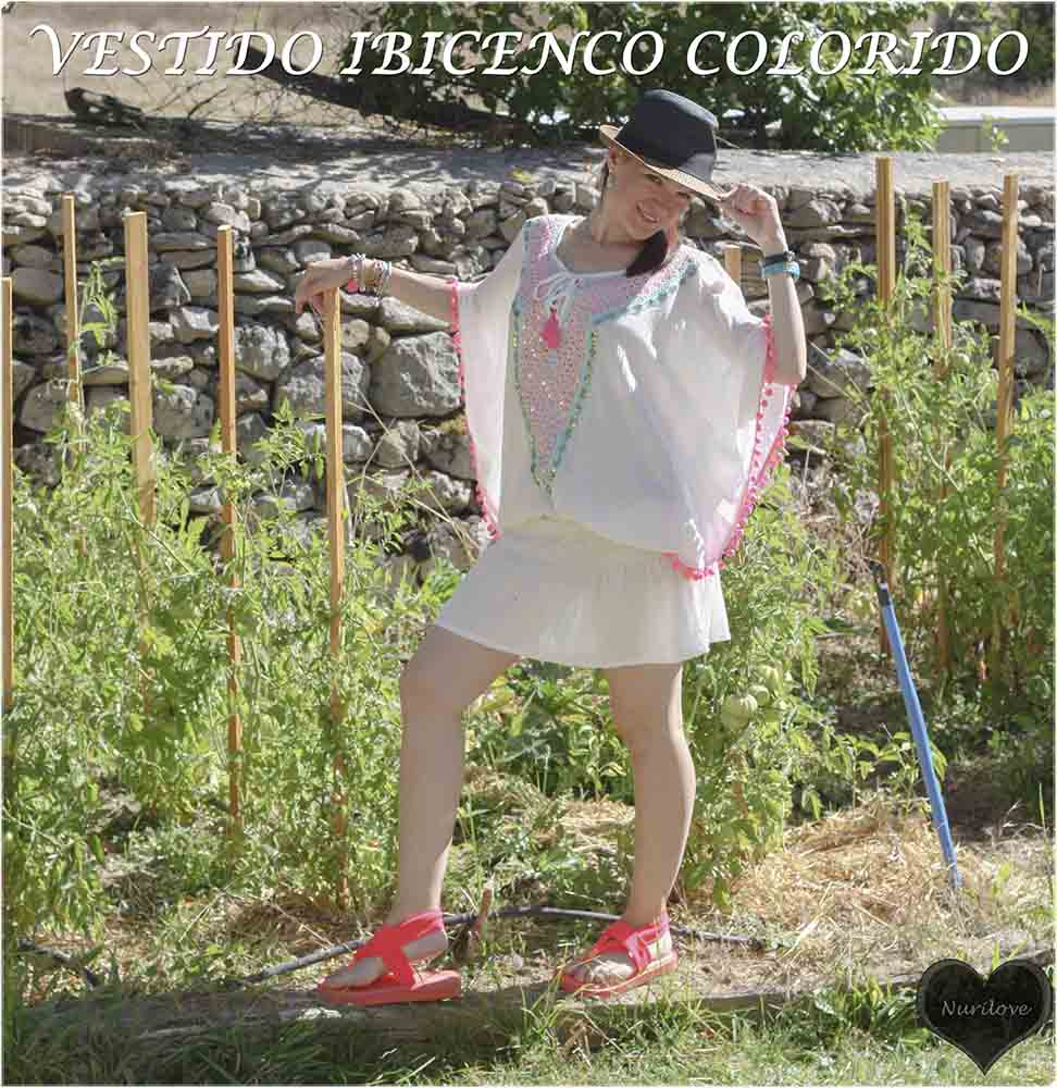 vestido estilo ibicenco, con paillettes ideal para el verano