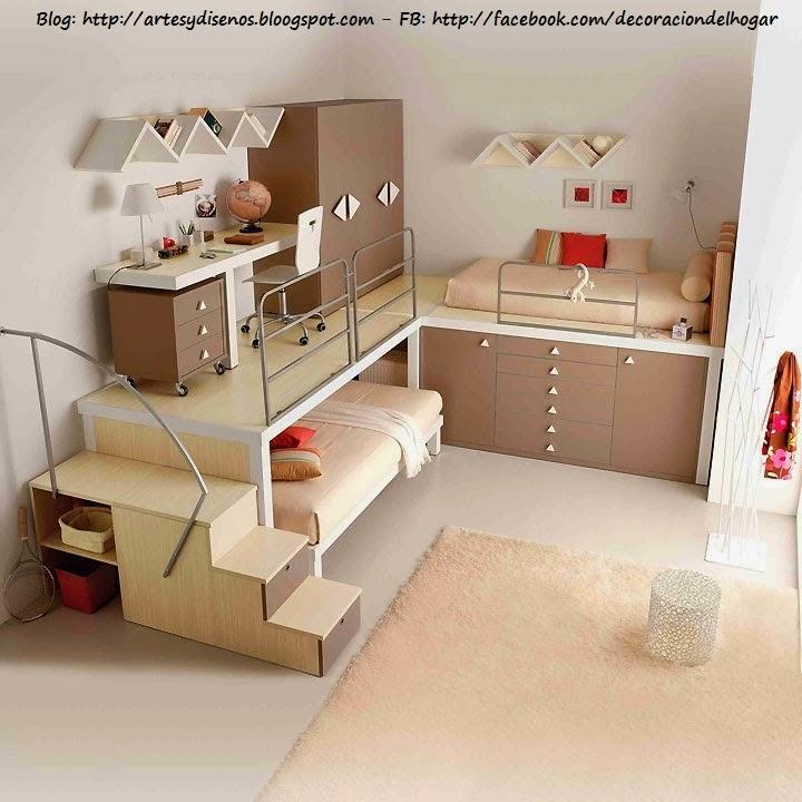 muebles funcionales para espacios peque os decoraci n On muebles interiores espacios pequenos