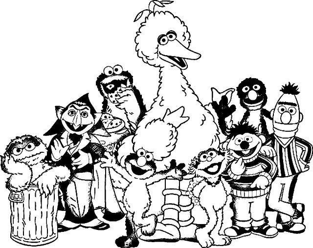 Sesame Street Coloring Sheets Printable For Kids Animals Pages ... | 508x640
