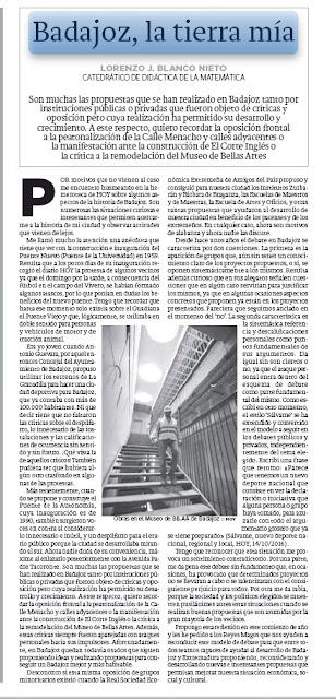 Badajoz, la tierra mía. HOY, Lorenzo J. Blanco