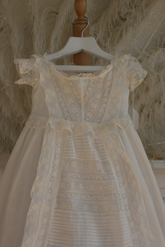 Rosemary Cathcart Antique Lace and Vintage Fashion Antique Christening Gowns For Sale