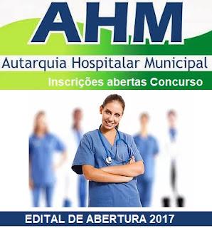 Edital Concurso AHM 2017