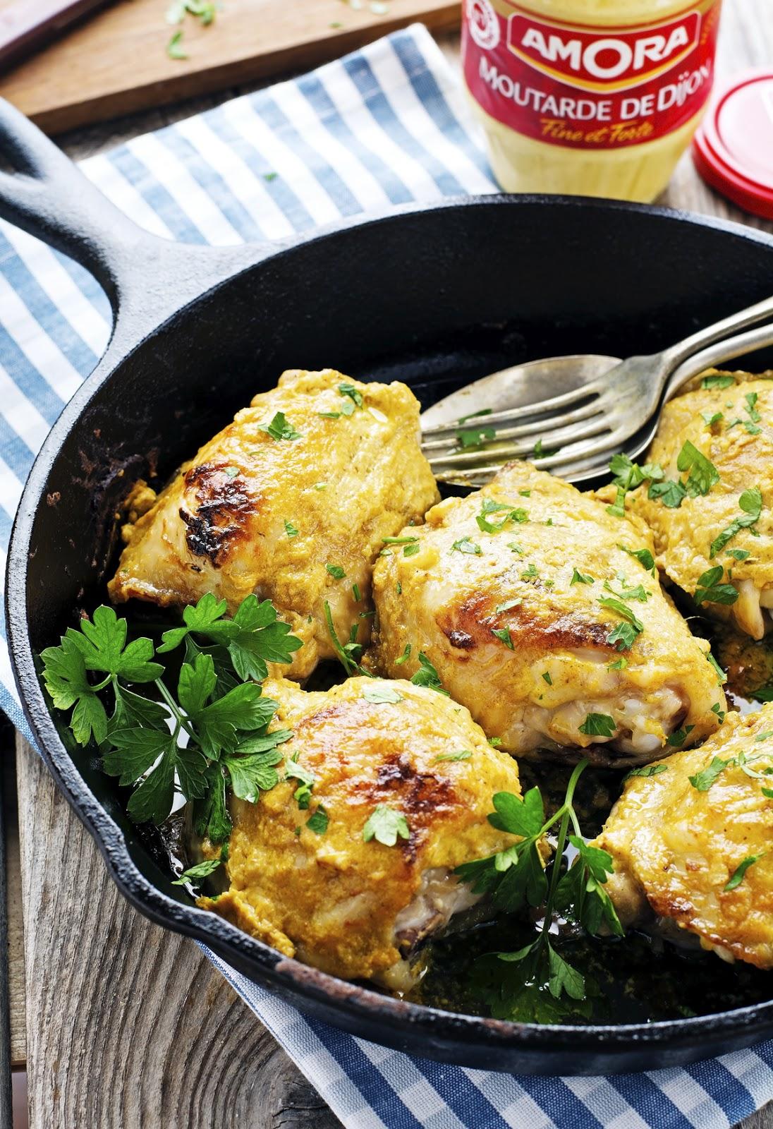 4-Ingredient Deviled Chicken Thighs