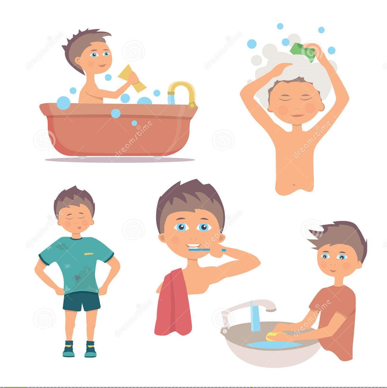 hygiene personal hands washing boy morning procedure tips persoonlijke van higiene hygiene body cartoon workplace clean ochtend het clipart zaragoza
