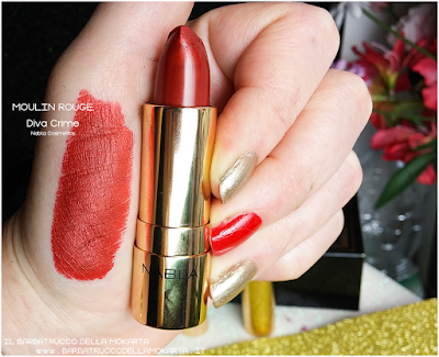 MOULIN ROUGE swatches  diva crime goldust collection Nabla cosmetics