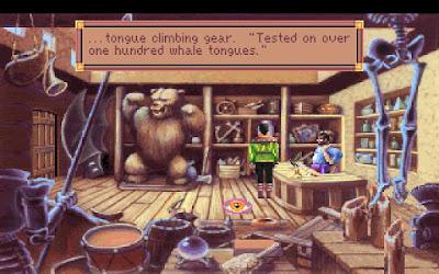 Huevo de Pascua King's Quest VI - casa de empeños
