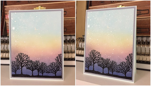 Inked Inspirations: Sunset in the Trees Card