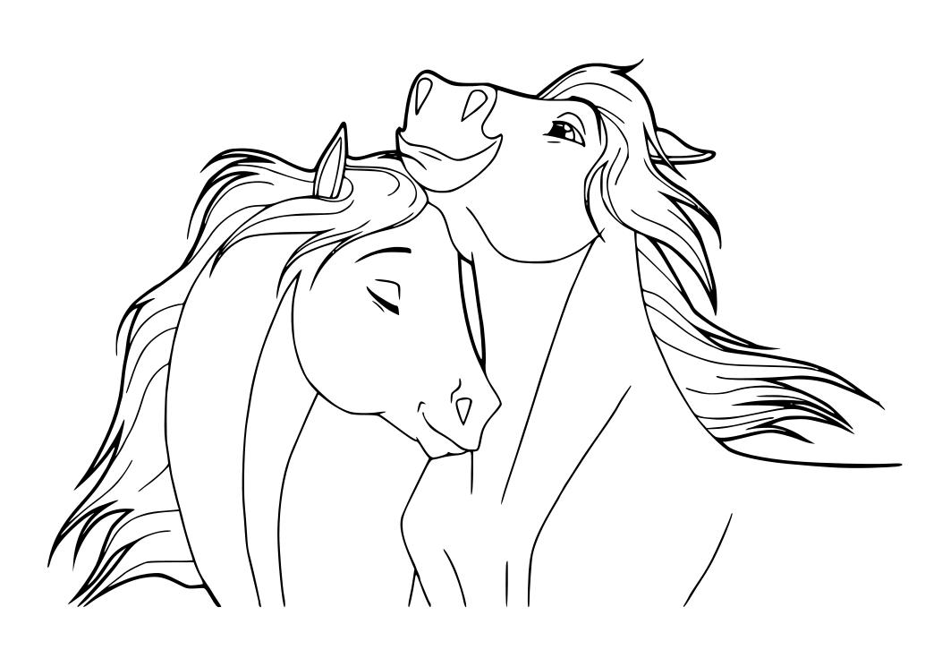 imprimir caballos para colorear dibujos para colorear