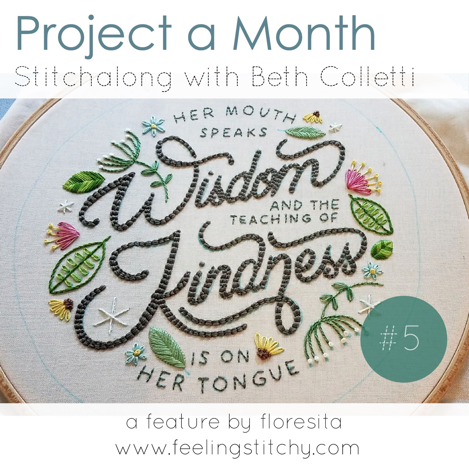 Project a Month May - Stitchalong with Beth Colletti as featured by floresita on Feeling Stitchy