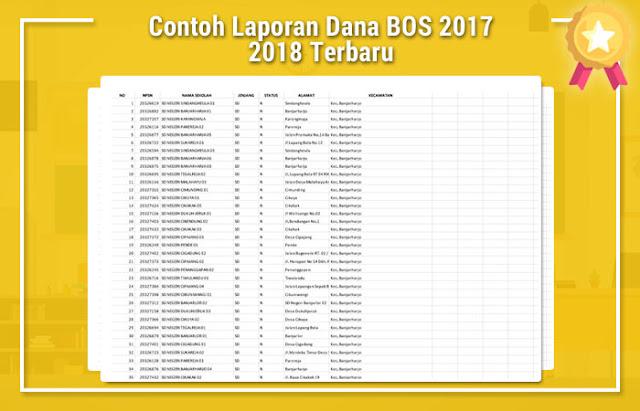 Contoh Laporan Dana BOS 2017 2018 Terbaru
