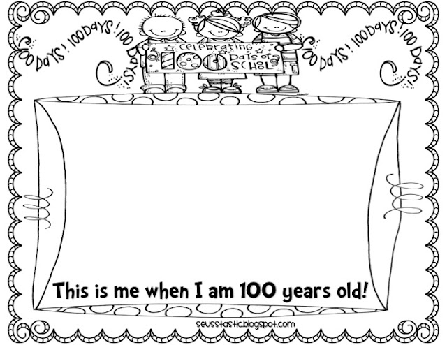 image relating to 100 Days of School Printable identify The 100th Working day of University! Dwelling Laughing Loving