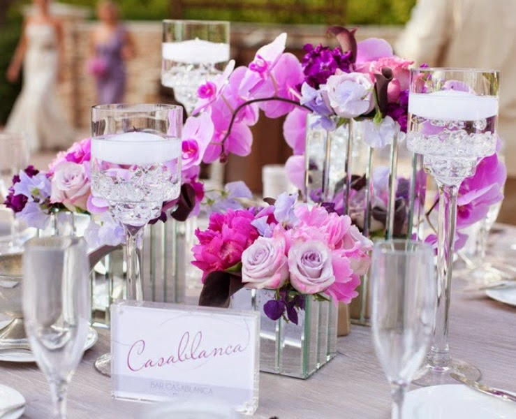Orchid weddings centerpieces for dining table