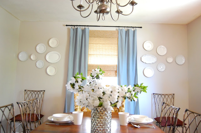dining room plate wall diy show off diy decorating and home improvement blogdiy show off. Black Bedroom Furniture Sets. Home Design Ideas