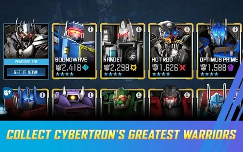 TRANSFORMERS: Forged to Fight Apk+Data Free on Android Game Download