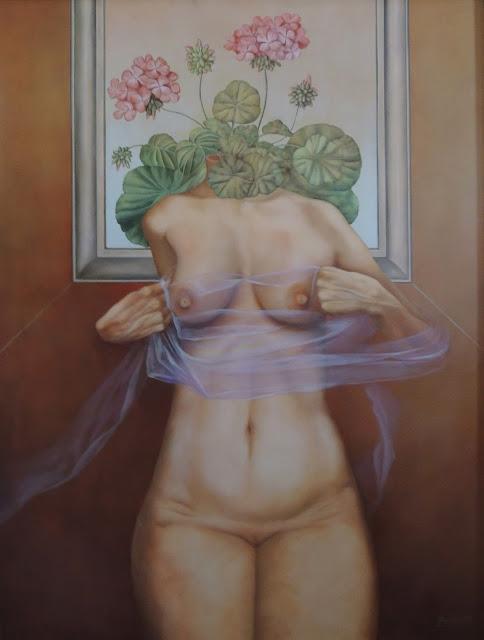 Gregorio Sabillón pintura cuadro surrealimo desnudo