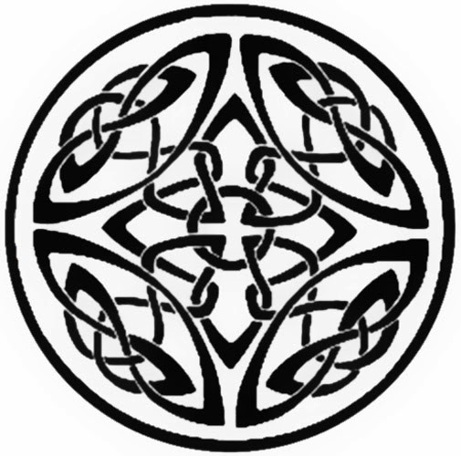 Celtic knots circle tattoo stencil