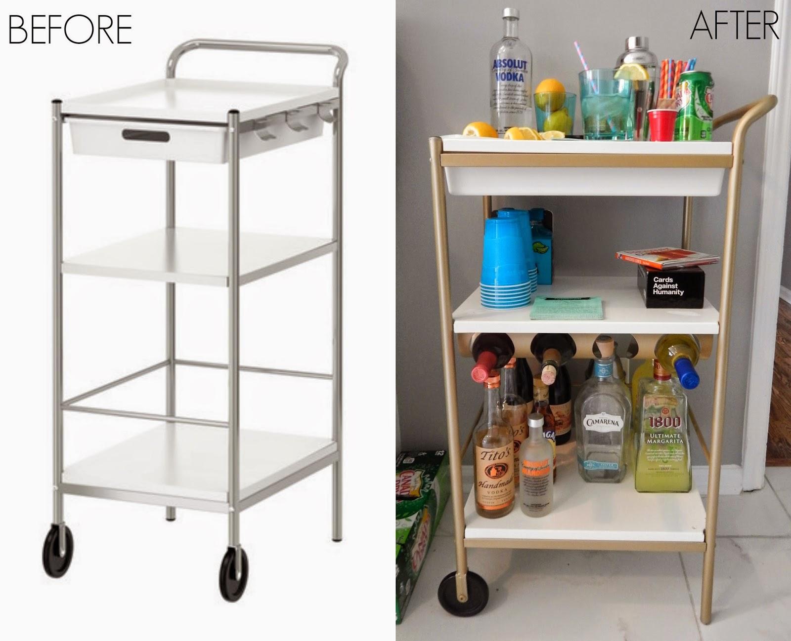 Ikea Bygel Kitchen Utility Cart Island Organizer Dark