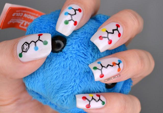 Molecular Nerdy Nail Art