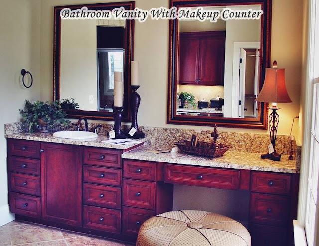 Bathroom Vanity With Makeup Counter Single Sink