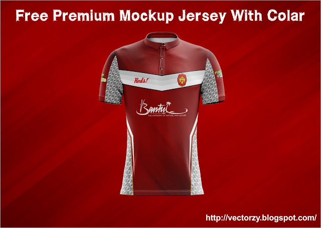 Free Download Premium Mockup Jersey With Colar Photoshop TIF File
