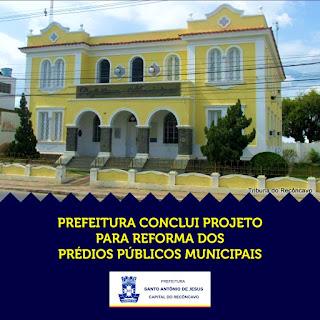 Prefeitura de SAJ conclui projeto para reforma dos prédios públicos municipais