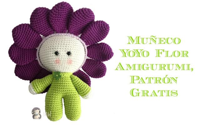 Muñeco Yoyo flor amigurumi