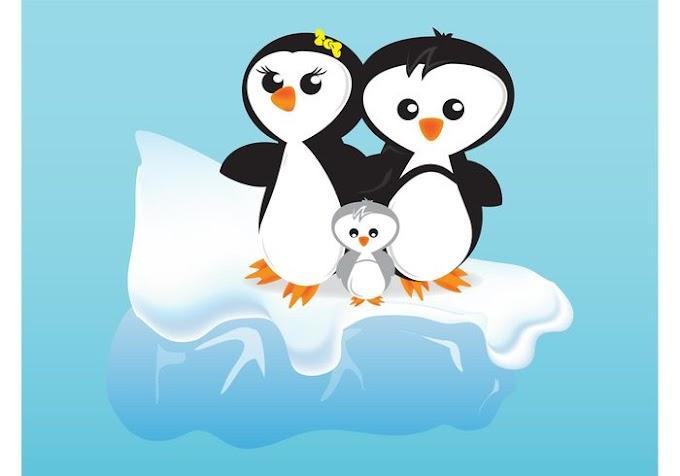 Cartoon Penguins free vector download