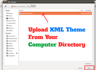 Upload XML Theme From Your Computer Directory