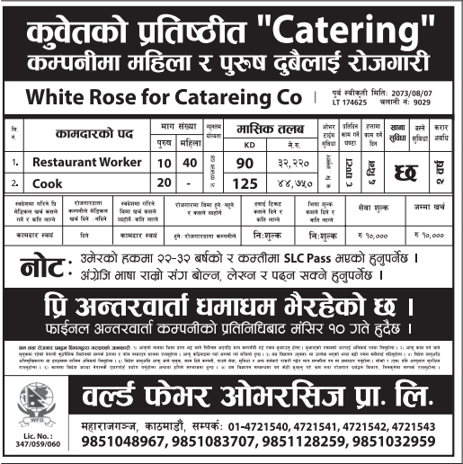 Jobs in Kuwait for Nepali Candidates, Salary Up to Rs 44,750