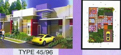Rumah Modern Minimalis Type 45/96