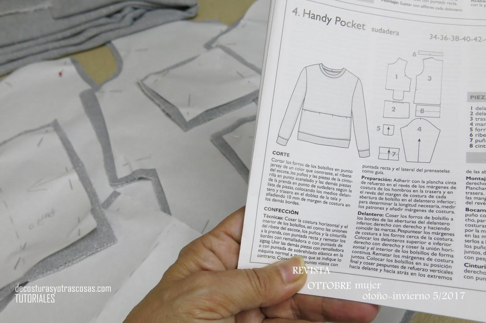 De costuras y otras cosas: SUDADERA BÁSICA DE PUNTO JERSEY