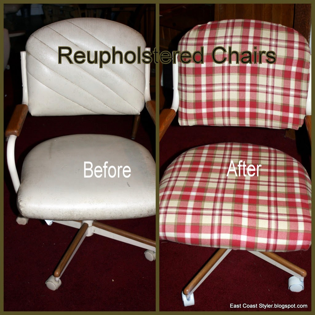 reupholster old kitchen chairs DIY