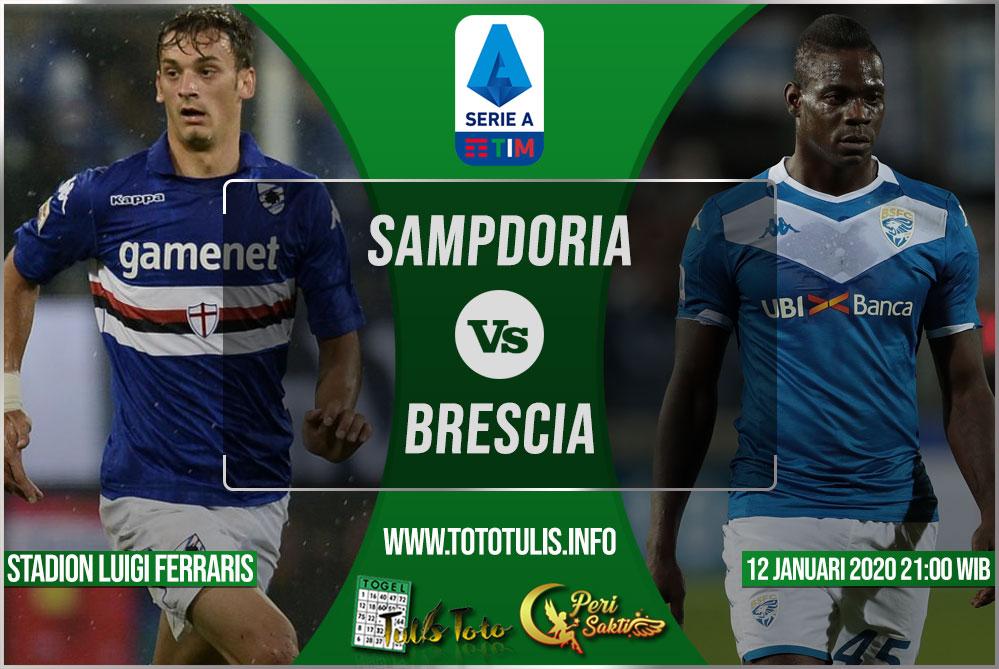Prediksi Sampdoria vs Brescia 12 Januari 2020