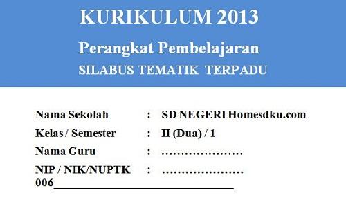 Silabus Kelas 2 SD/MI Semester 1 Kurikulum 2013 Tahun 2018/2019 - Guru Krebet 3
