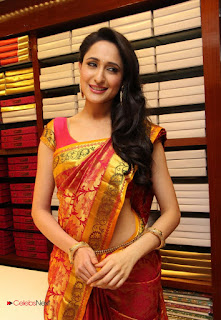 Actress Pragya Jaiswal Pictures in Saree at lam Showroom Launch  0013