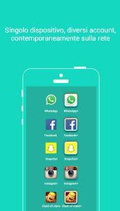 """Parallel Space consente di """"clonare"""" le proprie app social e di avviarle con account diversi; due Fb, due WhatsApp, ecc"""