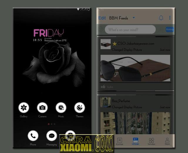MIUI Theme Flower of Darkness Update Mtz For Xiaomi (Merubah sampai ke Akar - Akar Aplikasi)